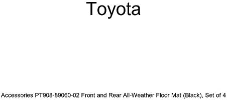 Set of 2 Genuine Toyota Accessories PT908-1201W-02 Front All-Weather Floor Mat - Black
