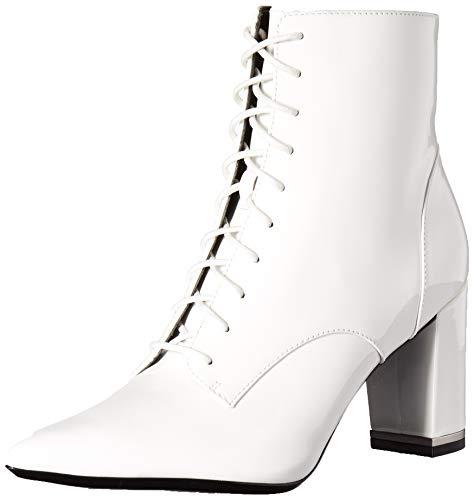 Calvin Klein Women's ESMA Ankle Boot, White Patent, 7.5 M -