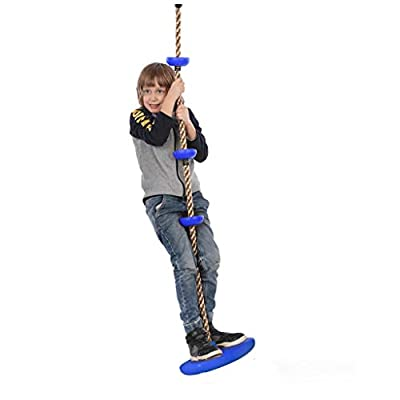 LHY Climbing Rope Swing with Foot Holder Platform and Disc Swing Seat Set for Kids Outdoor Tree Backyard Playground Accessories: Sports & Outdoors