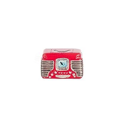 Amazon Com Dollhouse Miniature Retro Radio Red Toys Games