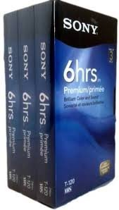 SONY 3T120VR 6hrs. EP T-120 VHS Tapes (3-pack) by Sony