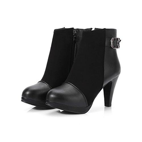 BalaMasa Resistant Buckle Boots Womens Black Urethane Dress ABL10212 Slip rBHW41gr