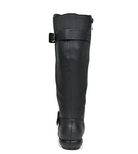 Winter PAIRS Lined Trace Wide Knee Summit Boots Faux DREAM High Fur wide black Women's Trace Calf calf zxHdAwqY1