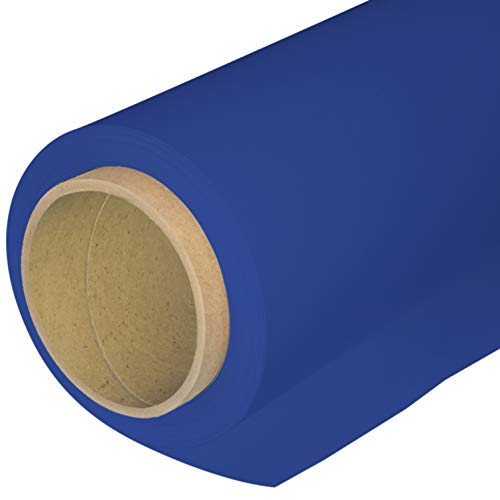 Huamei Seamless Photography Background Paper, Photo Backdrop Paper 53-Inches Wide x 16-Feet, (4.4x16 Feet, 11 Royal Blue)