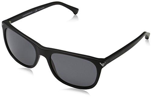 Emporio Armani EA4056 504281 Black EA4056 Wayfarer Sunglasses Polarised Lens - New Wayfarer Polarised