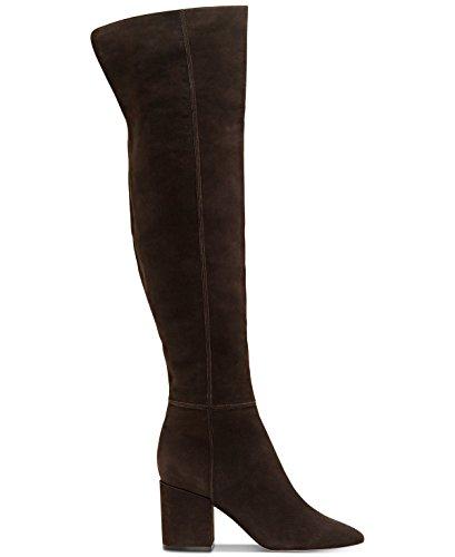 Jessica Simpson Women's PUMELLA Fashion Boot, Chocolate kiss, 8 Medium US (Leather Jessica Platforms)