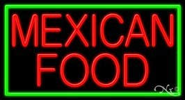 Mexican Food Business Neon Sign - 20 x 37 x 3 inches - Made in USA - Mexican Food Neon Sign