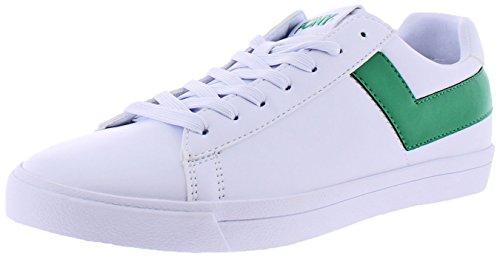 Pony Top Star Uomo Sneakers Corte Corte Moda Bianco / Verde Kelly