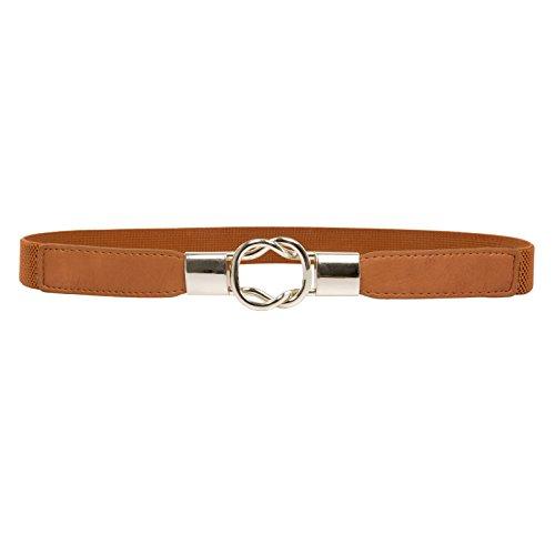 GRACE KARIN Women Retro Elastic Stretchy Metal Buckle Skinny Waist Cinch Belt