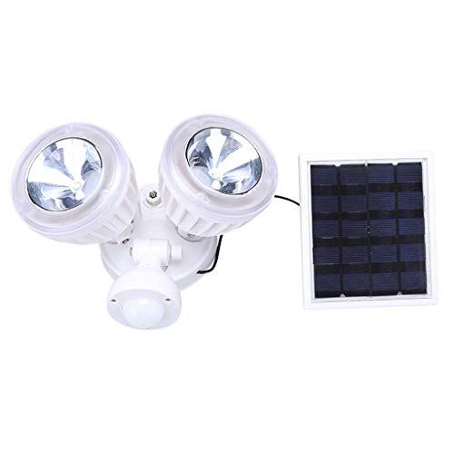 Outdoor Solar Double Head Wall Mount Garden Lights PIR Motion Sensor Lamp