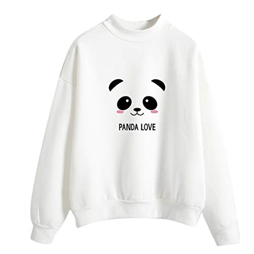 Baiggooswt Women Round Neck Long Sleeve Panda Cloud Rain Printed Sweatshirt Tops Blouse