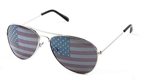 USA Sunglasses for Women Men USA Accessories Apparel Gifts Party 4th July 4 slvr -