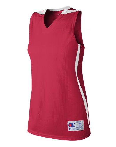 Womens Supreme Double Dry Basketbal Jersey Scarlet / Wit