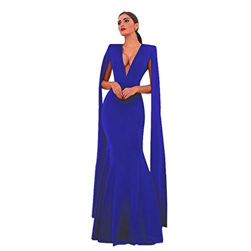 XUEJIN Women's V Neck Bodycon Long Sleeve/Sleeveless Ruffle Dress Front Slit Bandage Plus Size Midi Club Dresses