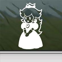 Mario White Sticker Decal Princess Peach Wii White Car Window Wall Macbook Notebook Laptop Sticker Decal