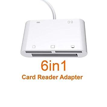 JIANG 6In1 SD TF SDHC CF XD M2 Adaptador de Carga del Lector ...
