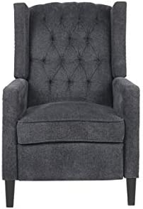 Push Back Recliner Chair for Living Room,Manual Recliner Chair, with Padded Seat Nailhead Trim Adjustment Chenille Sofa Seating Club Chair Home Theater Seating