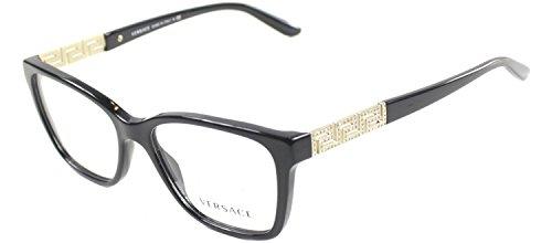 Versace Women's VE3192B Eyeglasses Black 52mm by Versace