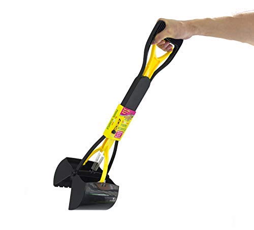 Scoochie Pet Pooper Scooper for Dogs One Handed Long Scooper for Poop & Waste Pick Up, No-Hassle Mess Perfect for Grass, Dirt, and Outside Use