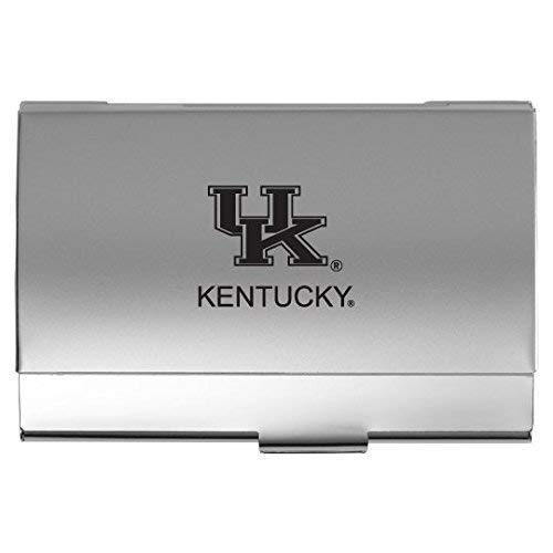 (University of Kentucky - Two-Tone Business Card Holder - Silver)
