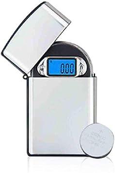 Sooiy Escala Digital de Bolsillo de 100 G * 0 joyería 01G Mini Alta precisión Escala Digital de Bolsillo electrónico portátil balanza de Laboratorio 0 01G Báscula Hierbas medicinales Balanza