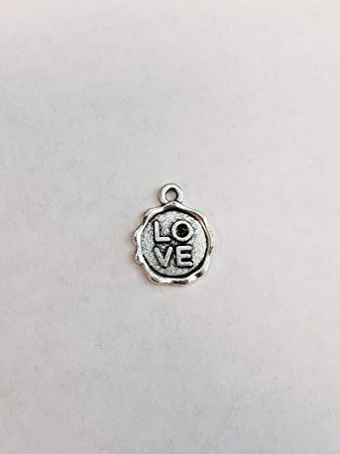 Wholesale Bulk Silver Love Ridged Coin for Jewelry Making, JoJoGold 6 Pieces Gold Charm Pendants for DIY Necklace or Bracelet -