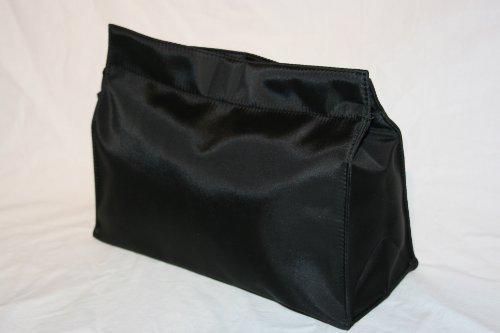 –Trousse grande in Nylon di seta di alta qualità in nero