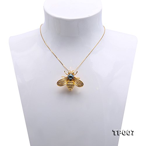 JYX Fine 9mm Tahitian Southsea Cultured Pearl Brooch Pin Pendant Bee-style by JYX Pearl (Image #6)