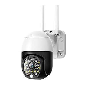 Mini Outdoor Security Camera, SDETER 1080P Pan Tilt Zoom Surveillance CCTV IP Weatherproof Camera with Colorful Night…