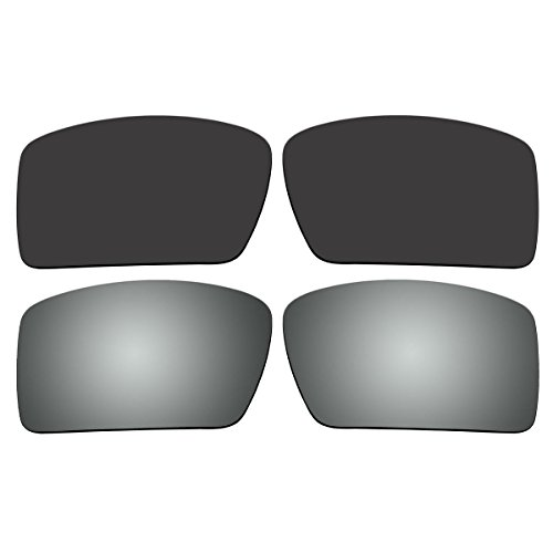 Replacement Polarized Black and Titanium Lenses for Oakley Eyepatch 2 Sunglasses