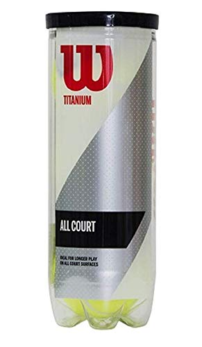 Wilson Titanium Synthetic Tennis Balls, 3 CAN  Yellow