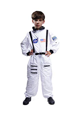 Maxim Party Supplies Kids Astronaut Costume Space Suit Onesie with Embroidered Patches and Pockets - http://coolthings.us