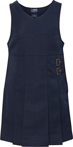 FRENCH TOAST School Uniform Girls Twin Buckle Tab Jumper - Y9075 - Navy, - Tab Buckle