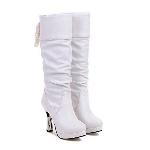 femme blanc Blanc Souples BalaMasa Bottes Abl09678 xwqUwOZ
