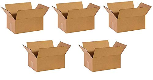 Partners Brand P14106 Corrugated Boxes, 14''L x 10''W x 6''H, Kraft (Pack of 25) (Fivе Расk)