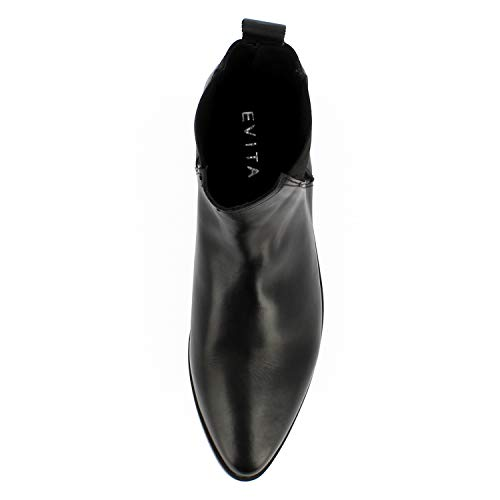 Bottines Shoes Evita Cuir Femme Noir Filipa Lisse Ez11q