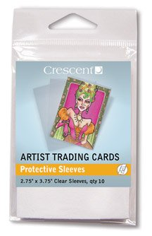 Crescent Protective Sleeves for Artist Trading Cards, Pack of 10