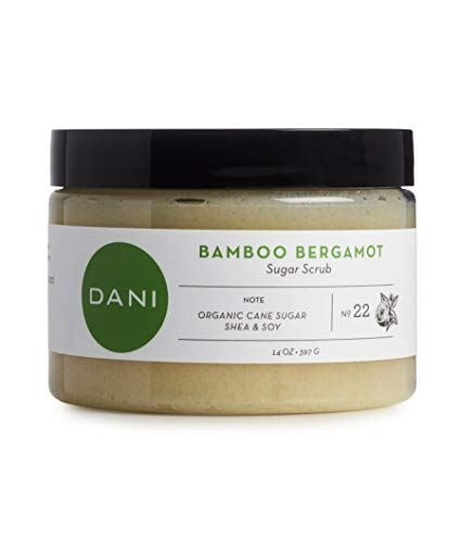 Pure & Gentle Exfoliating Sugar Scrub by DANI Naturals - Refreshing Bamboo Bergamot Scented Body Polish - Organic Cane Sugar & Natural Moisturizing Shea Butter - For Men & Women - 14 Ounces