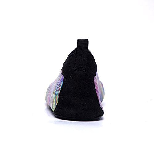 Bagno Ragazzi Hw Donna Yoga Immersione Uomini da da Mare Unisex Materiale LeKuni Scarpe Leggere Scarpette Traspirante Spiaggia Ballo Scoglio Elastico Super multicolor Scarpe da Antiscivolo gR1wn0