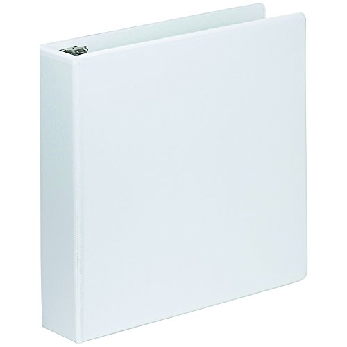 Samsill Economy 3 Ring Presentation View Binder, 2 Inch Round Ring – Holds 425 Sheets, Customizable Clear View Cover, White ()