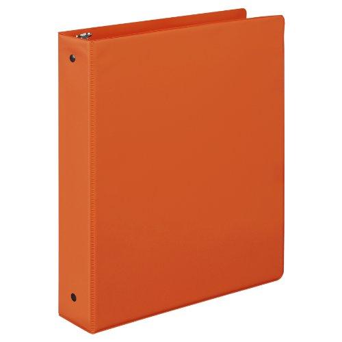 Samsill 1.5 Inch Value Document Storage 3 Ring Binder , Round Ring, 11 x 8.5 Inches, Orange (11513)