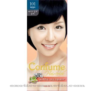 Amazon.com : Confume Herbal Hair Color - 101 Sage Blue Black ...