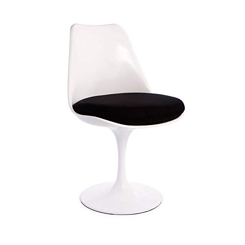 Tulip Dining Chair Replica - Mid Century Modern Side Chair (Black)