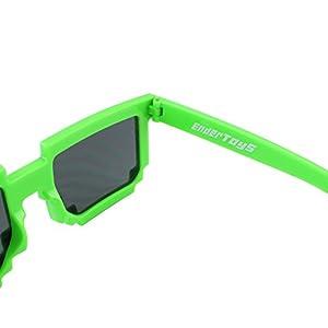 Pixel Kids Sunglasses – Novelty Retro Gamer Geek Glasses for Boys and Girls Ages 6+ by EnderToys