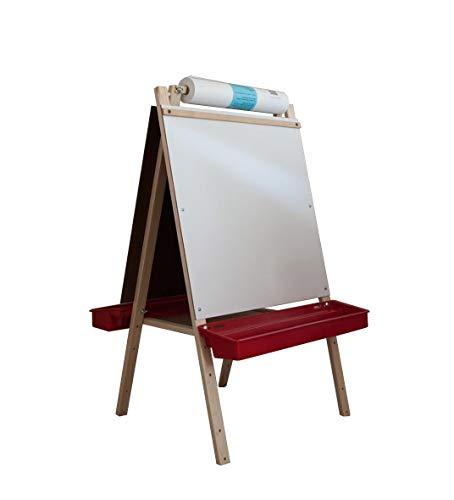 Beka 01922 Ultimate Easel, chalkboard, markerboard, plastic trays - 42 in. high