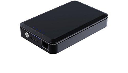 MEDION LIFE S89044 1 TB Externe Festplatte mit WLAN Funktion, Lithium Akku 3000 mAh, Powerbank, 6,35 cm (2,5 Zoll), USB 3.0, USB 2.0, schwarz
