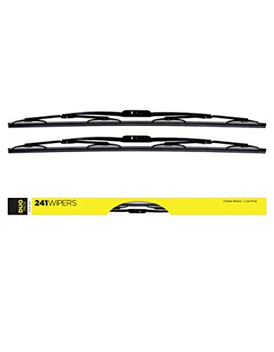 AutoTex Compatible with/Replacement for ASTON MARTIN VANTAGE V8 2006-2011 AutoTex Premium Windshield Wiper Blades - (2-pack) - 24 & 20