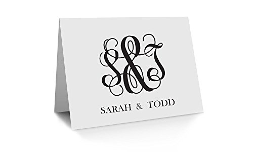 Ampersand Monogram Stationery cards, Set of 10