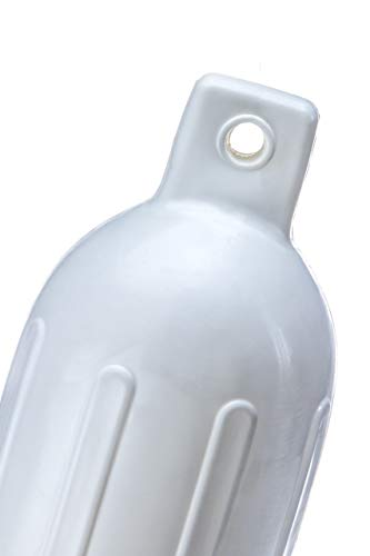 Seachoice 79021 Twin Eye Ribbed Fender, 6.5-Inch x 23-Inch, White ()