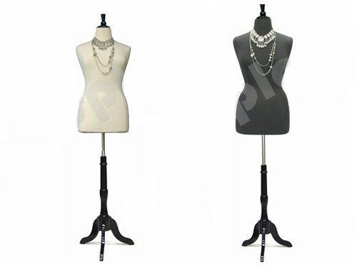 Plus Size Mannequins - (JF-F14/16W+Black Cover+BS-02BKX) Plus Size 14-16 White Female Dress Form Mannequin with Wooden Base&Cap 42